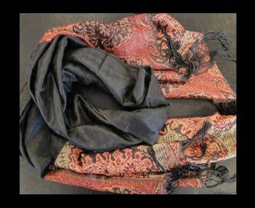 Pashmina Shawl-Style1-Black & Red
