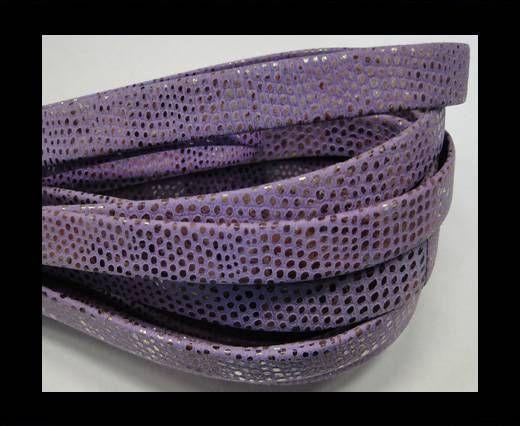 Real napa 10 mm Flat - Snake style Dark lila