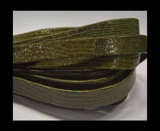 Nappaleder, Flach, 10mm - Lizard Taupe