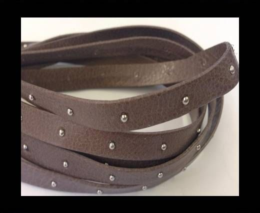 Real Nappa Leather with studs-10mm-taupe