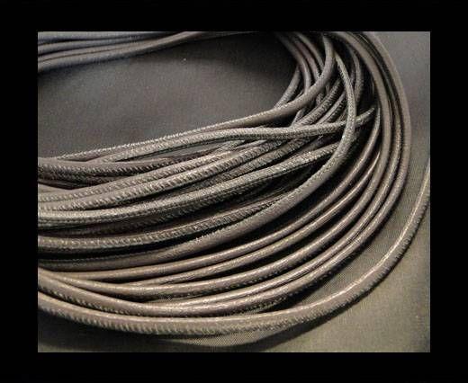 Nappaleder, rund  gesäumt - 6mm - Grey