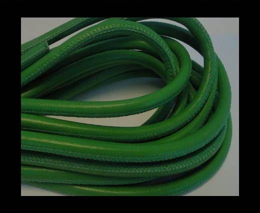 Nappaleder, rund  gesäumt - 6mm - Green