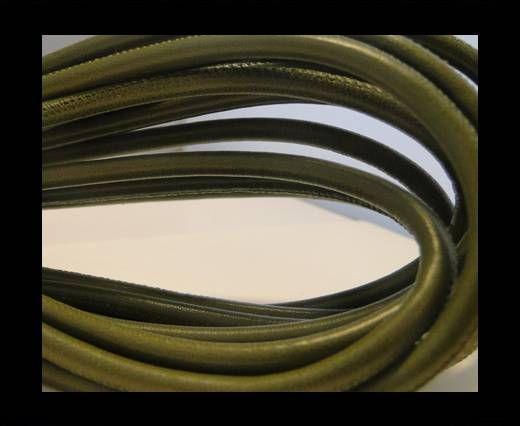 Nappaleder, rund  gesäumt - 6mm - Olive Green