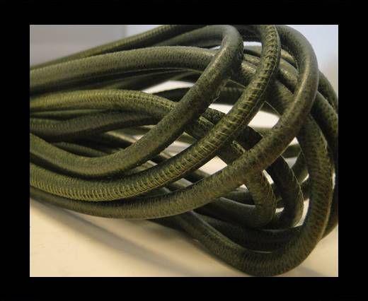 Nappaleder, rund  gesäumt - 6mm - Vintage Green