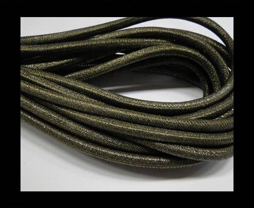 Nappaleder, rund  gesäumt - 6mm - Bronze