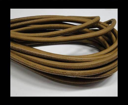 Nappaleder, rund  gesäumt - 6mm - Brown Bronze