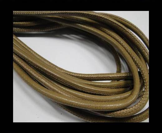 Real Nappa Round-Plain styles-Dark Beige