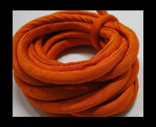 Seidenband mit Baumwollfüllung - 4 mm - Safran