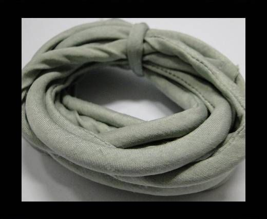 Seidenband mit Baumwollfüllung - 4 mm - Stony Mist