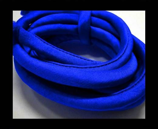Seidenband mit Baumwollfüllung - 8 mm - Saphirblau
