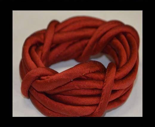 Seidenband mit Baumwollfüllung - 4 mm - Rotwein