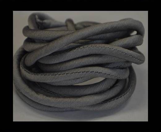 Seidenband mit Baumwollfüllung - 4 mm - Grau