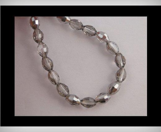 Rice Glass Beads -4mm*6mm-Black Diamond
