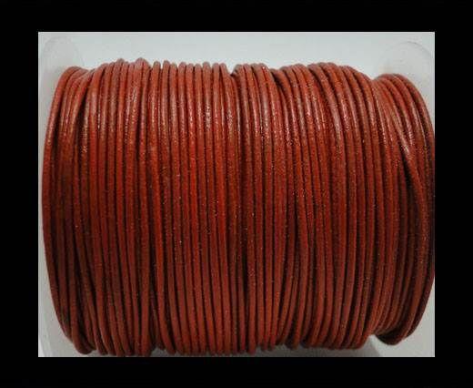 Round Leather Cord -1mm - Orange