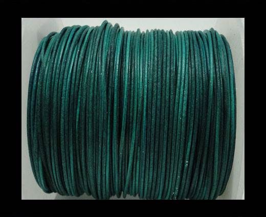 Round Leather Cord -1mm- Turquoise