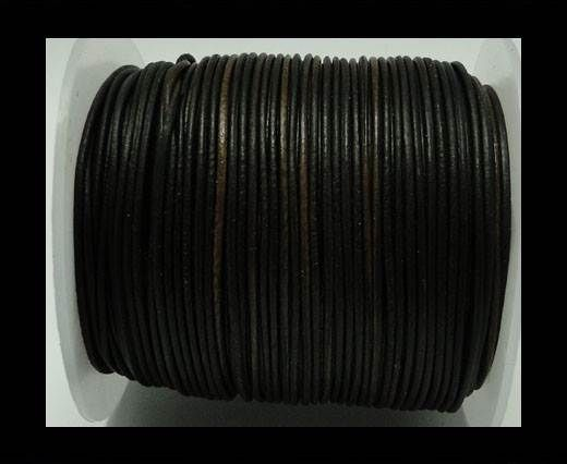 Round Leather Cord -1mm - Vintage Brown