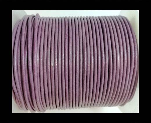 Round Leather Cord -1mm - PASTEL PURPLE