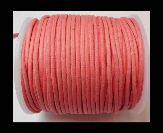 Round Wax Cotton Cords - 2mm - Pink