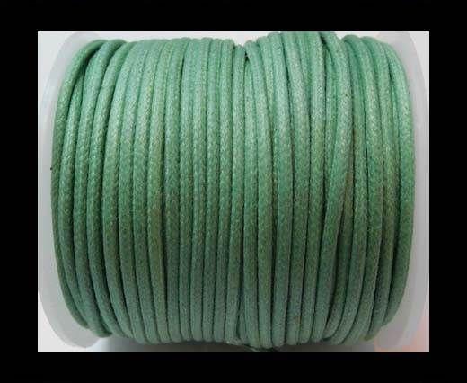 Round Wax Cotton Cords - 2mm - Sea Blue