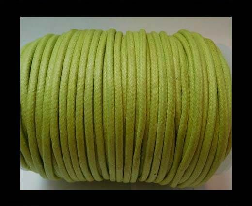 Round Wax Cotton Cords - 3mm - Apple Green