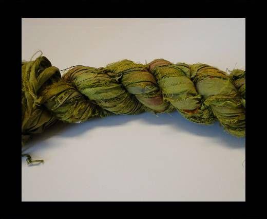 Sari Silk Ribbons-Nile Green