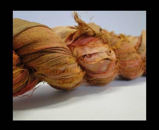 Sari silk ribbons- Safrari
