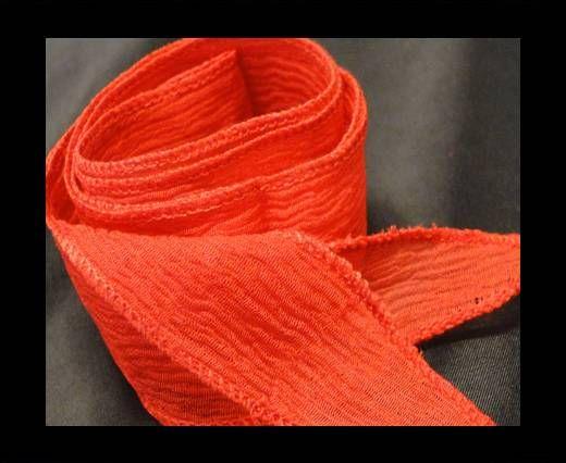 SC-Seidenband - Plain Bright Red