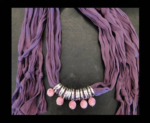 Scarf With Beads Style5-Purple