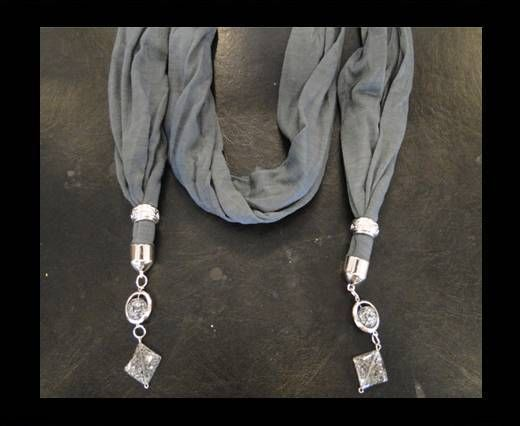 Scarf With Beads Style17-Grey
