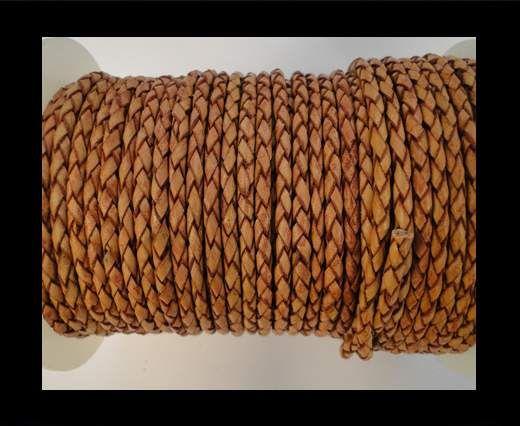 Rundes Leder, geflochten SE/B/14-Bordeaux - 4mm