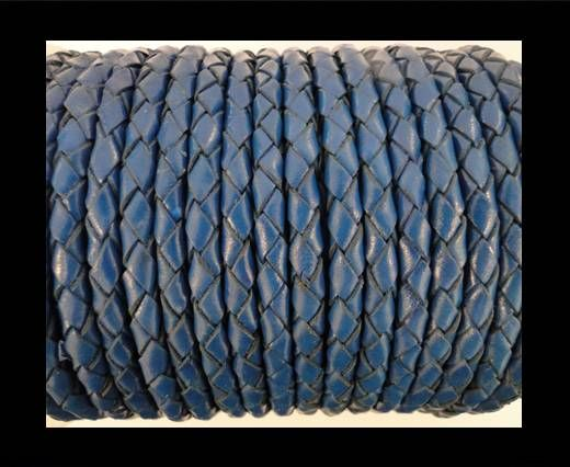 Round Braided Leather Cord SE/B/537-Denim - 3mm