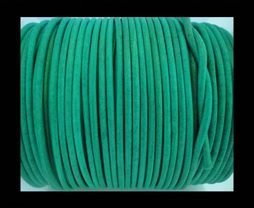 Round Leather Cord SE/R/Lagoon-2mm
