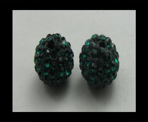 Shamballa-Anhänger-6mm-Emerald