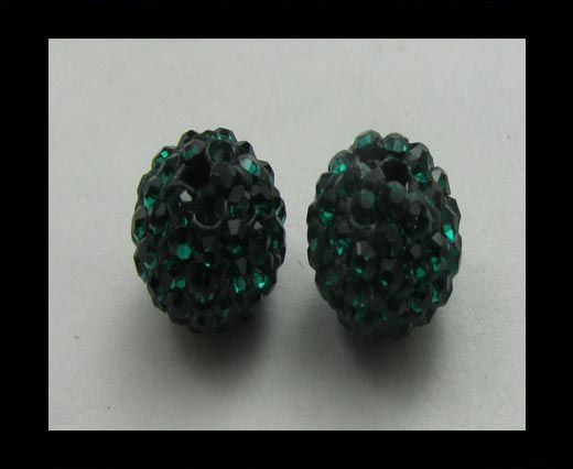 Shamballa-Anhänger-8mm-Emerald