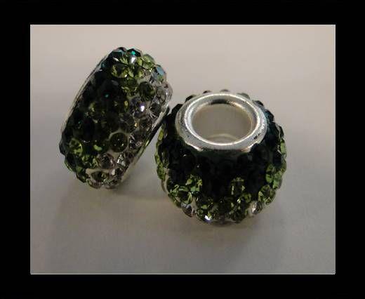 Shamballa-Großes Loch-Emerald