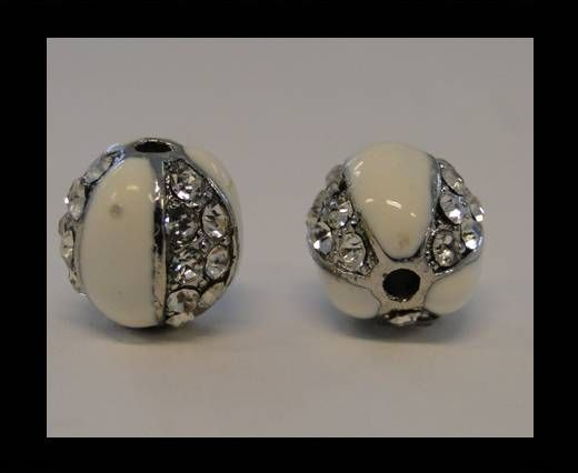 Shamballa-CA-4242 -Silber Weiß