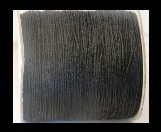 Shamballa-Kordeln-1mm-Schwarz