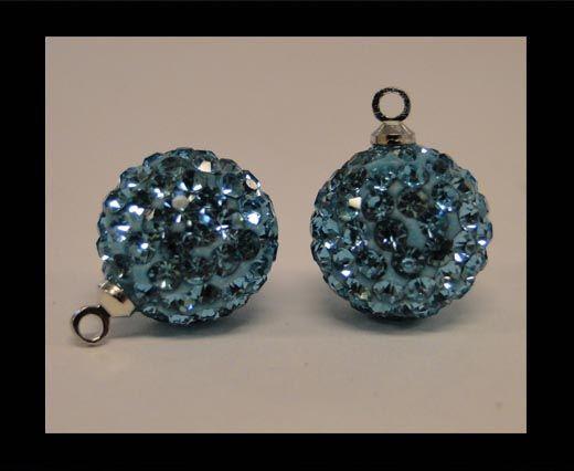 Shamballa-Kristall-Aufhänger-8mm-Aquamarine