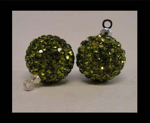 Shamballa-Kristall-Aufhänger-12mm-Oliv