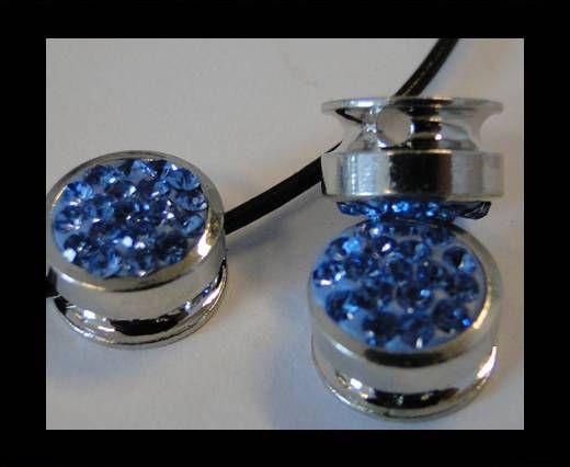 Shamballa-Flat-Round-10mm-Light Saphire