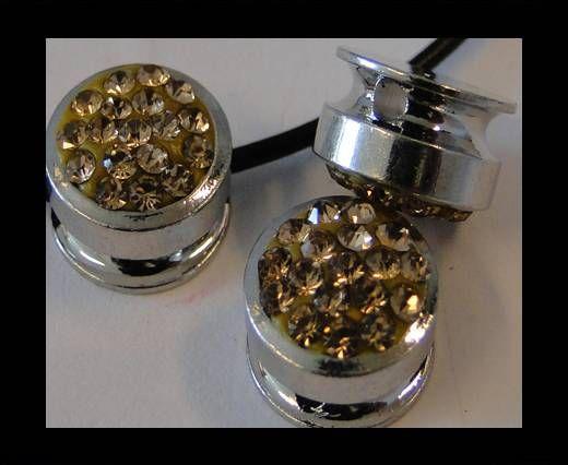 Shamballa-Flat-Round-10mm-Light Topaz