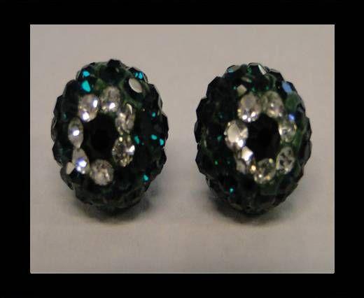 Shamballa-Blume-10mm-Emerald