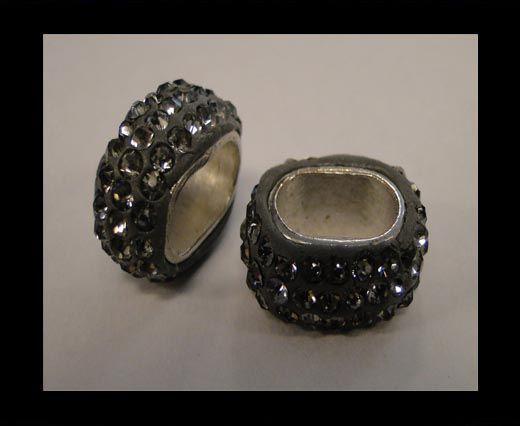 Shamballa-Oval-Hohl-schwarzer Diamant