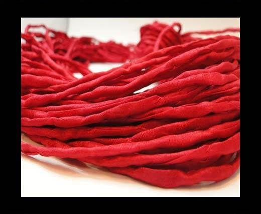 Silk Cords - 2mm - Round -8 Red