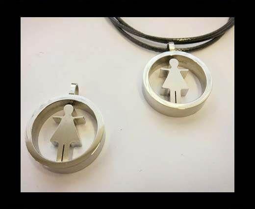 Stainless steel charm SSP-742-25mm-Steel