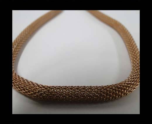 Stainless Steel Chain Item-5-4mm Rose Gold