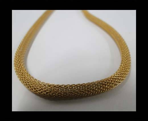 Stainless Steel Chain Item-5-4mm Gold
