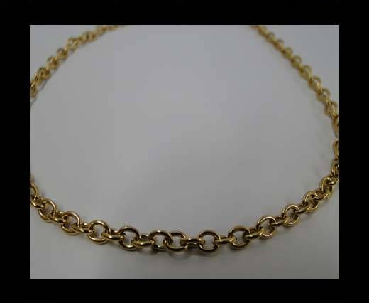 Stainless Steel Chain Item-27-1*3,8*5mm Gold