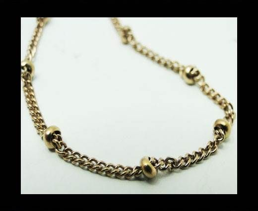 Steel chain item number-35-rose gold
