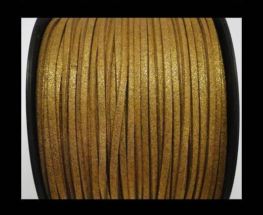 Suede cord - 3mm - Glitter Gold